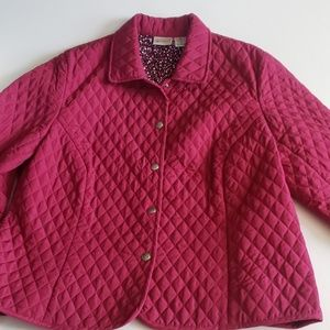 Kim Rogers Signature Petite Fushia Quilted Jacket
